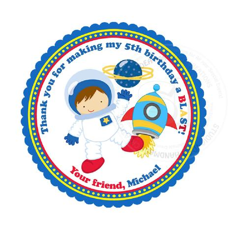 Custom Astronaut Birthday Thank you Printable 2.5\