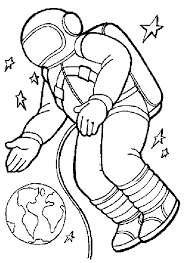 Image result for astronaut clipart black and white.
