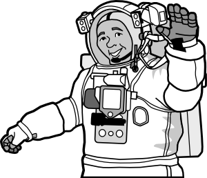 Smiling Astronaut Clip Art at Clker.com.