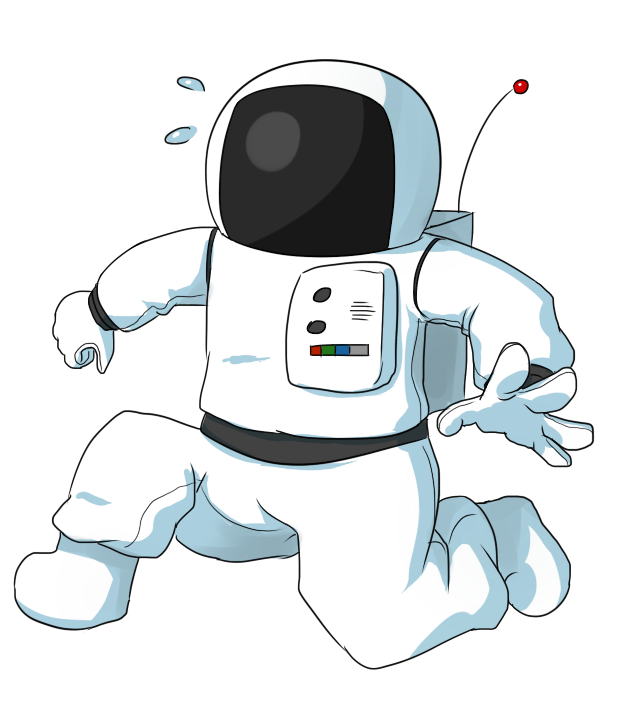 Free to Use Public Domain Astronaut Clip Art.