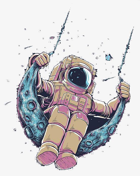 Astronaut PNG clipart.