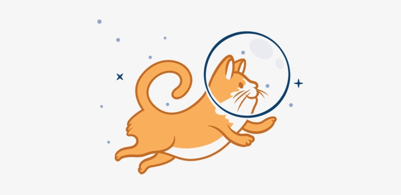 Space Cat Clipart.
