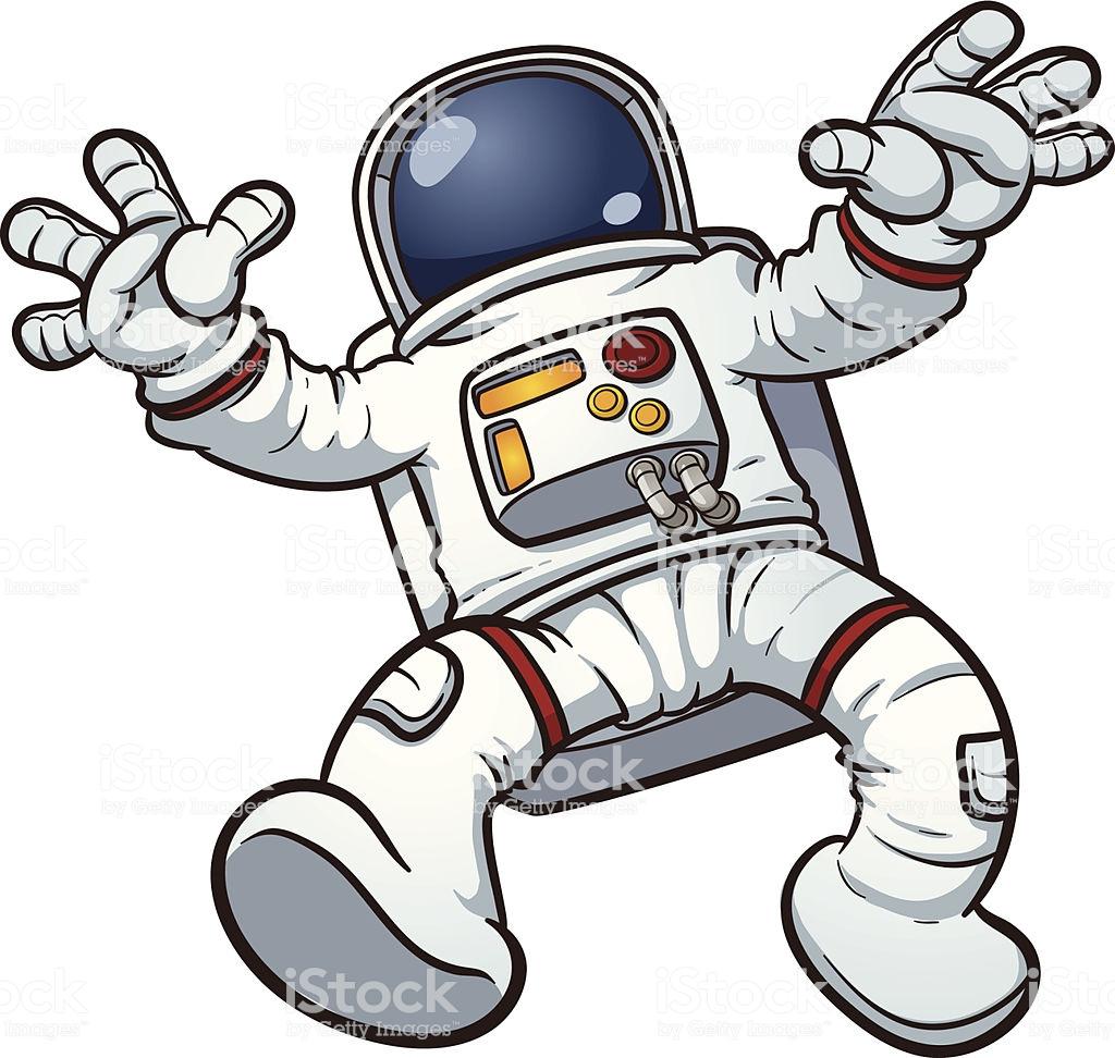 Astronaut Clip Art Stock Illustration.