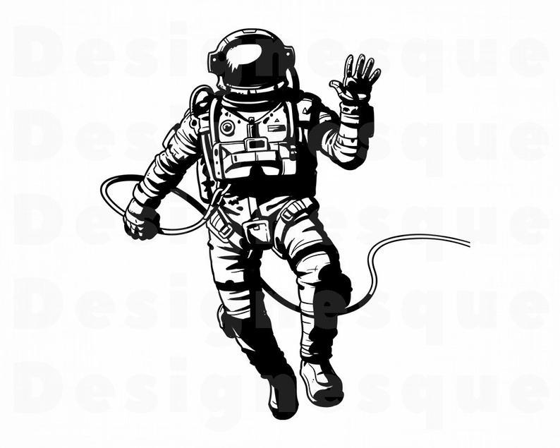Astronaut SVG, Space Svg, Astronaut Clipart, Astronaut Files for Cricut,  Astronaut Cut Files For Silhouette, Astronaut Dxf, Png, Eps, Vector.