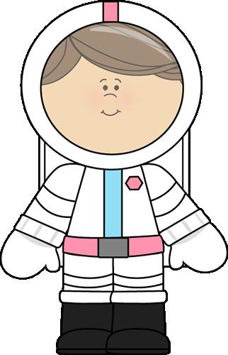 Girl Astronaut Clip Art.