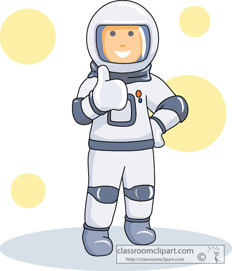 Cartoon Astronaut Clipart.
