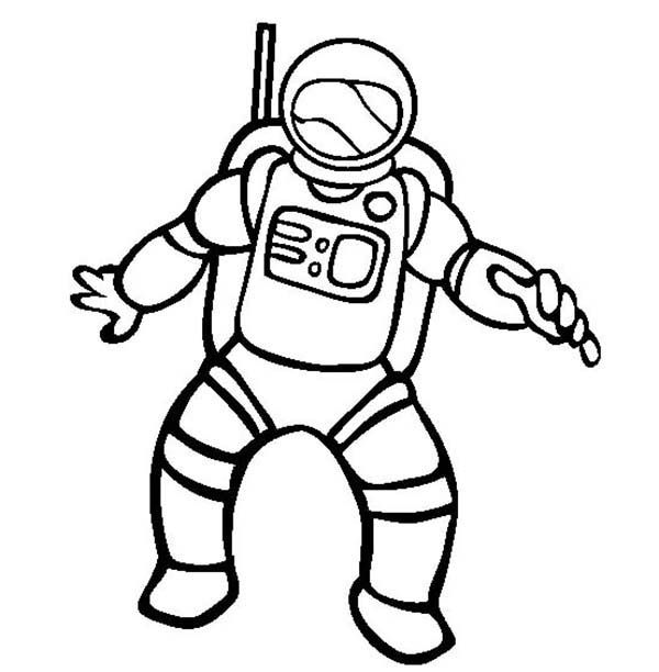 Astronaut Picture of Community Helpers Coloring Page.