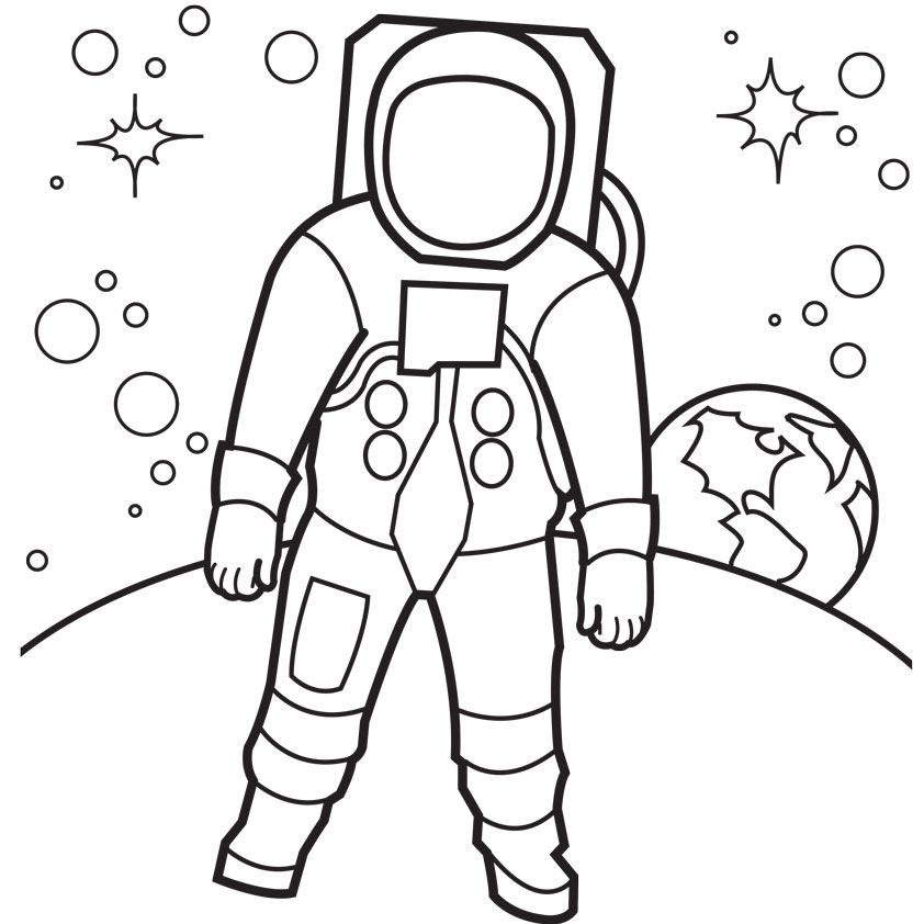 A Is For Astronaut Coloring Page Png X Q.