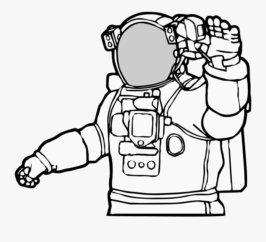 Realistic Astronaut Clip Art.
