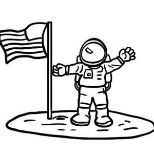 Simple Astronaut Drawing.