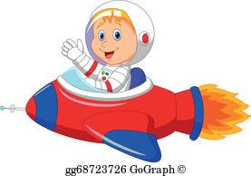 Astronaut Kid Clip Art.