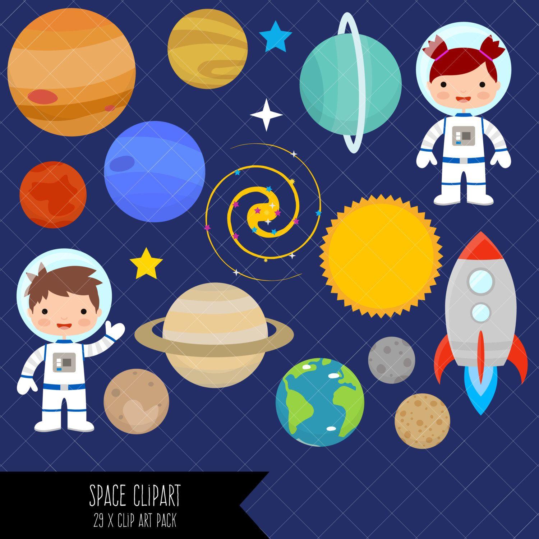 Space Clipart / Planets Clipart / Astronaut Clipart / Clip.