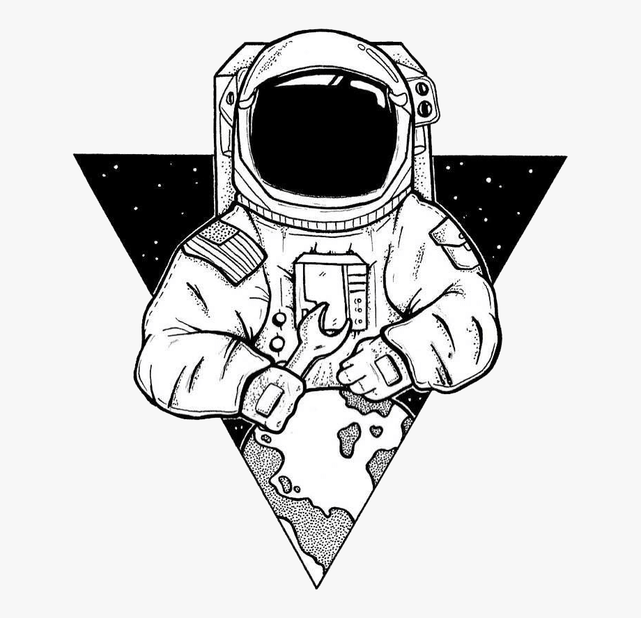 Astronaut Artwork Transparent Background.