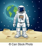 Cosmonaut realistic 3d astronaut isolated spaceman space.