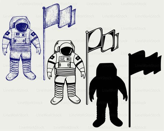 Astronaut clipart silhouette, Picture #235632 astronaut.
