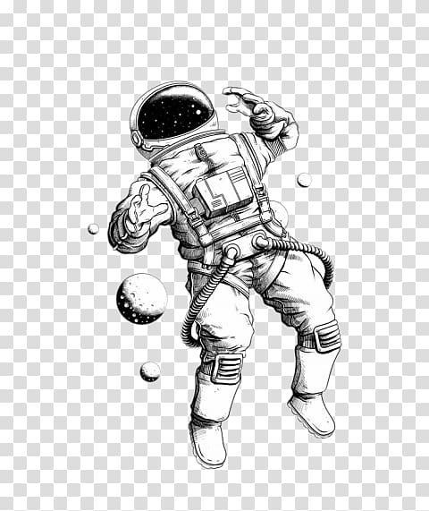 Astronaut Drawing Art Space suit, astronaut transparent.