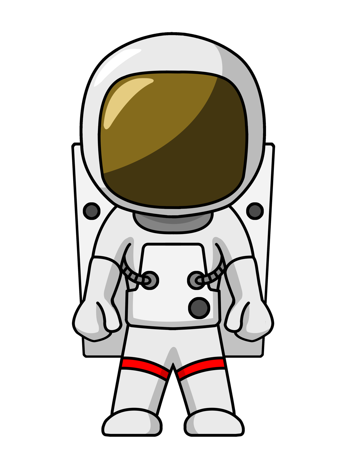 Astronaut clipart body, Astronaut body Transparent FREE for.