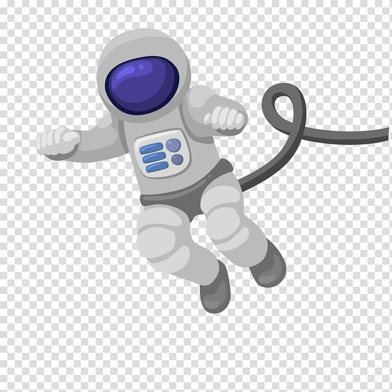 Astronaut illustration, Cartoon Astronomy Outer space.