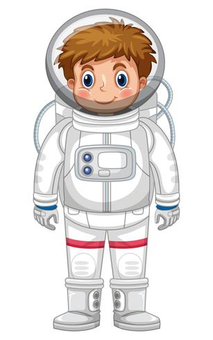 Boy in astronaut outfit.