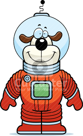 Dog Astronaut stock vector.