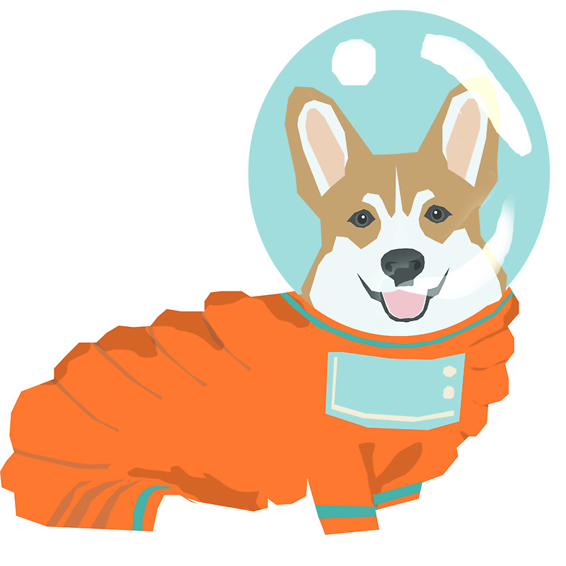 Space Dog Clipart.