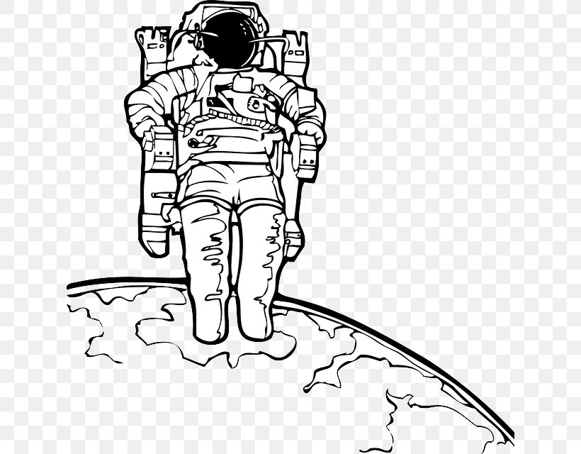 Astronaut Drawing Space Suit Clip Art, PNG, 632x640px.
