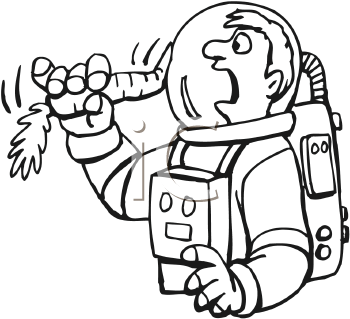 Images of Astronaut Eating Clip Art.