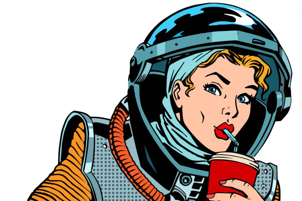 Keep this side up: what do astronauts eat in space?.