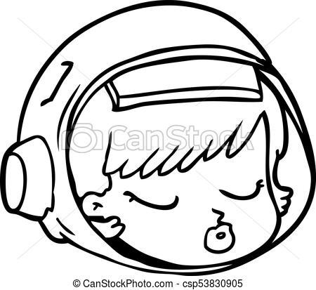 cartoon astronaut face.