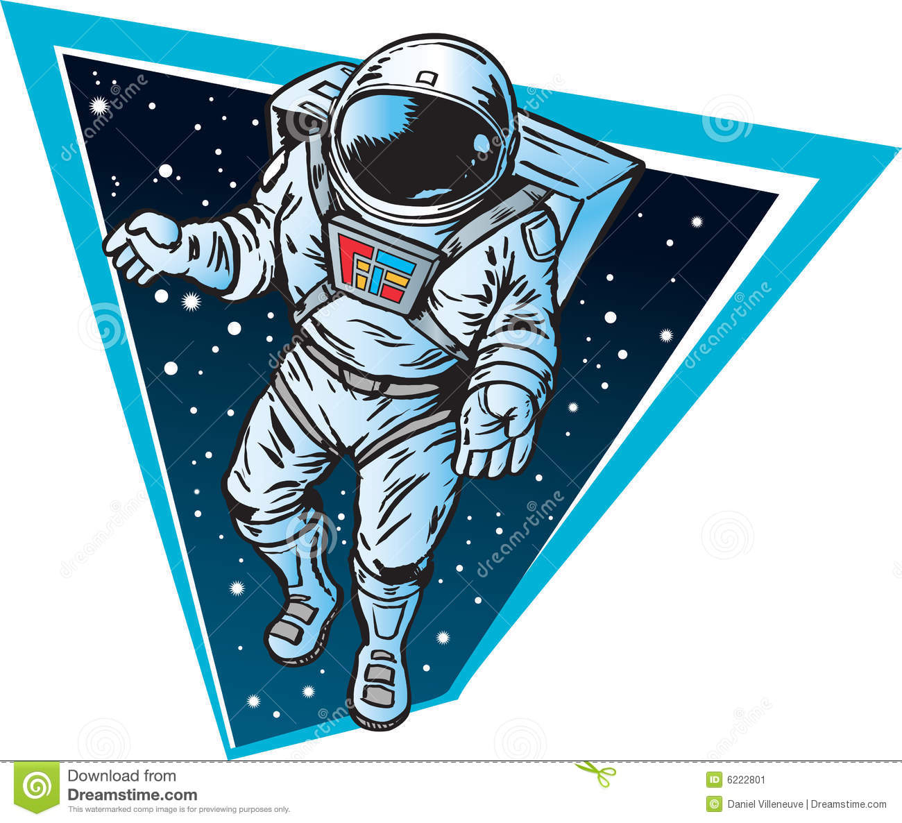 Astronaut Floating In Space Clipart.
