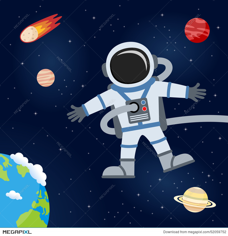 1413 Astronaut free clipart.