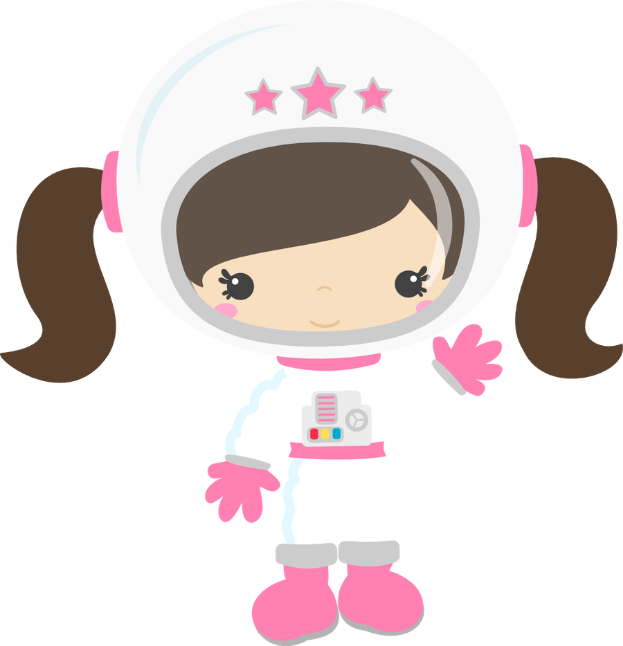 Clipart girl astronaut, Clipart girl astronaut Transparent.
