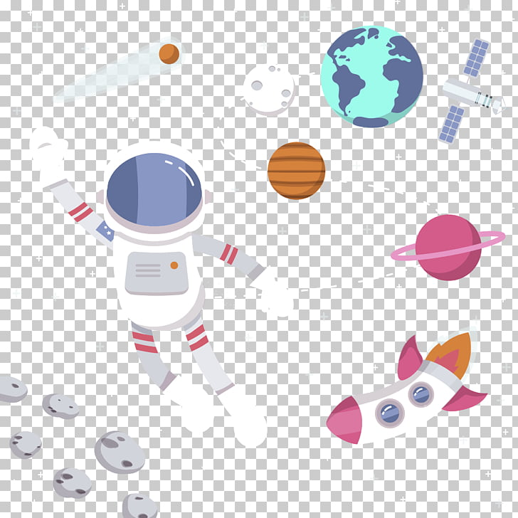 Astronaut Spacecraft Illustration, Astronauts in space PNG.