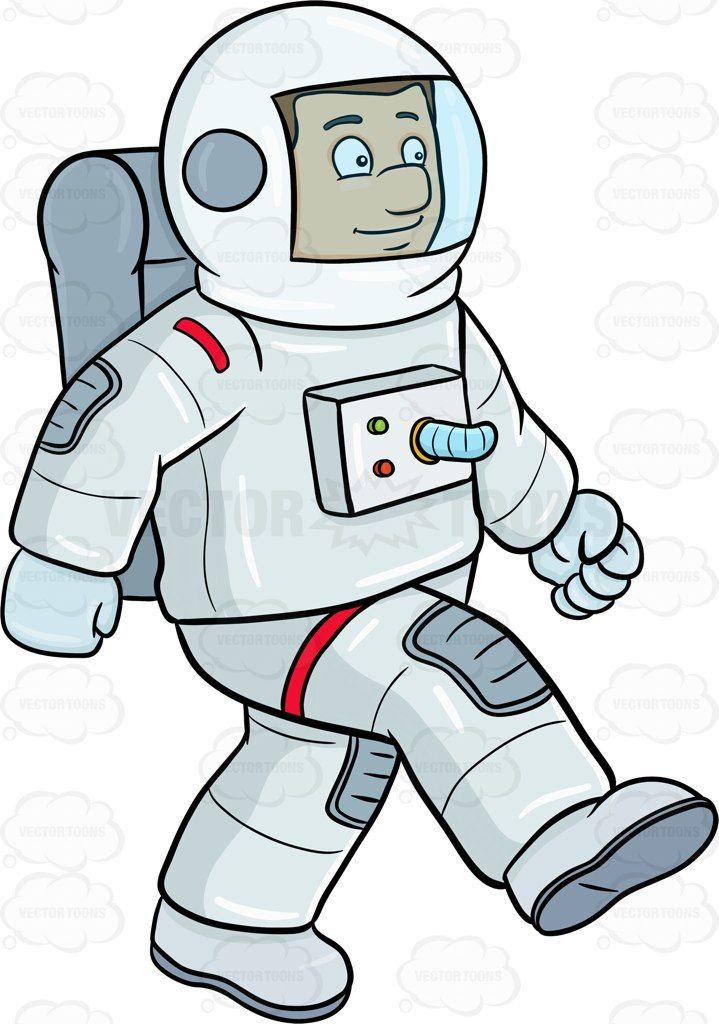 A male astronaut enjoy striding on a foreign surface #air.