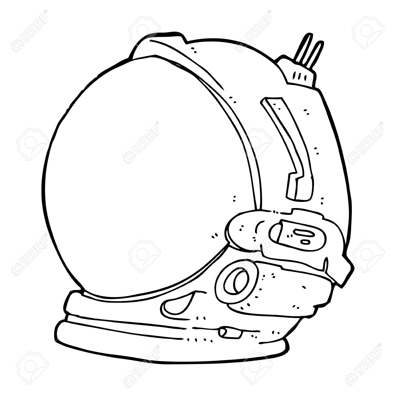 cartoon astronaut helmet.