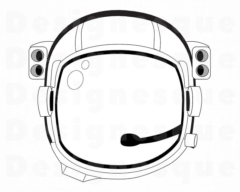 Astronaut Helmet SVG, Astronaut SVG, Astronaut Helmet Clipart, Astronaut  Files for Cricut, Astronaut Cut Files For Silhouette, Dxf, Png, Eps.