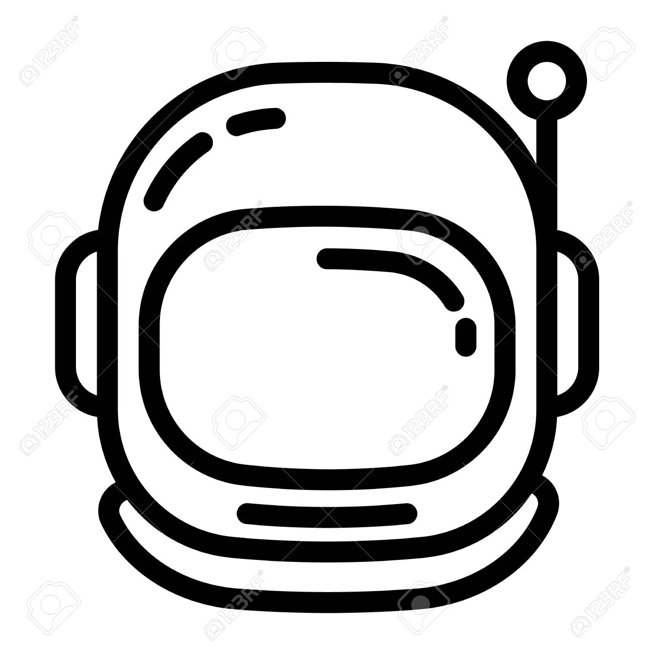 Astronaut helmet icon. Outline astronaut helmet vector icon for...