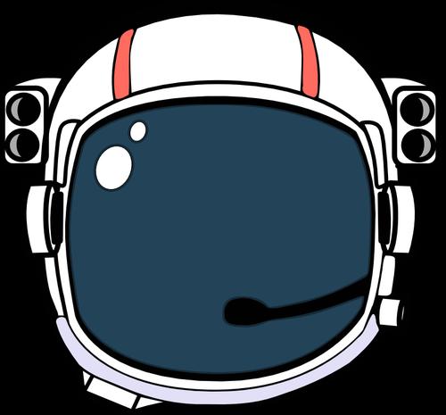 Astronaut helmet vector illustration.