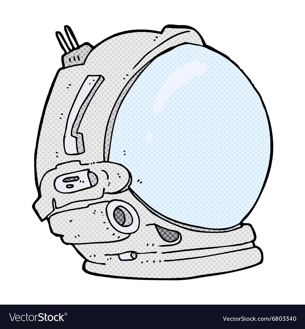 Comic cartoon astronaut helmet.