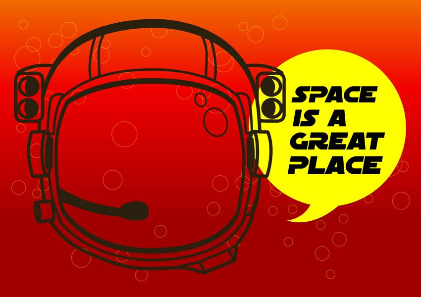 Astronaut Helmet Vector Art & Graphics.
