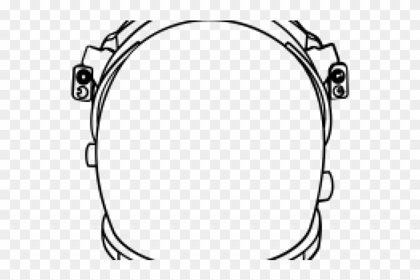 Drawn Helmet Astronaut Helmet.
