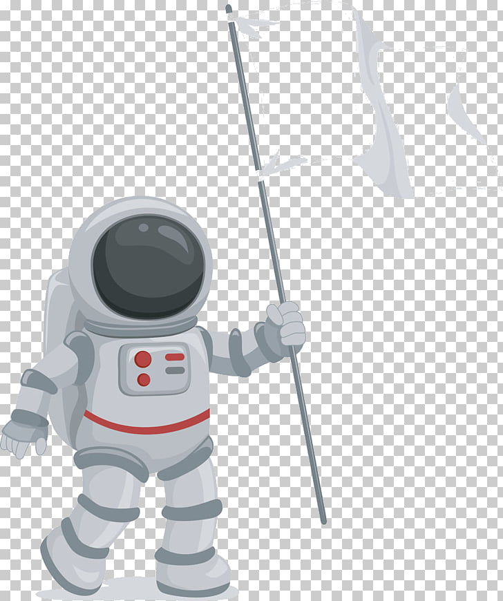 Astronaut Flag , Astronaut holding banner PNG clipart.