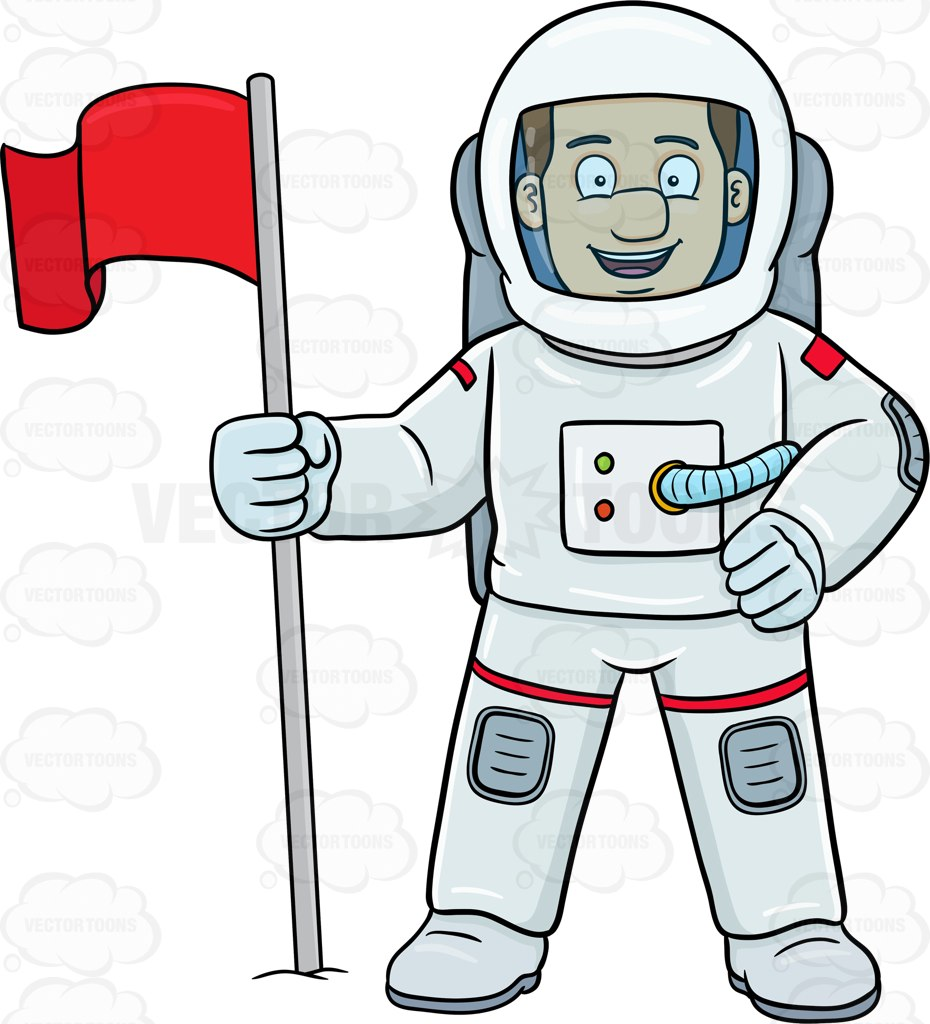 1393 Astronaut free clipart.