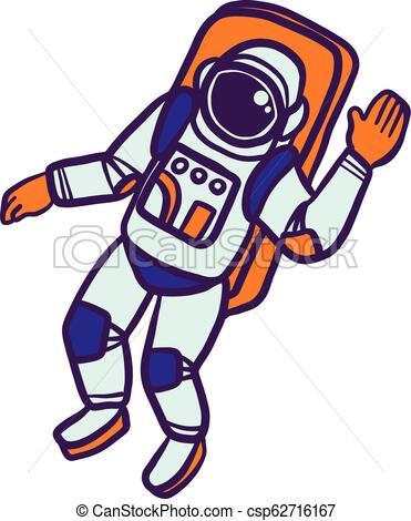 Astronaut icon, hand drawn style.