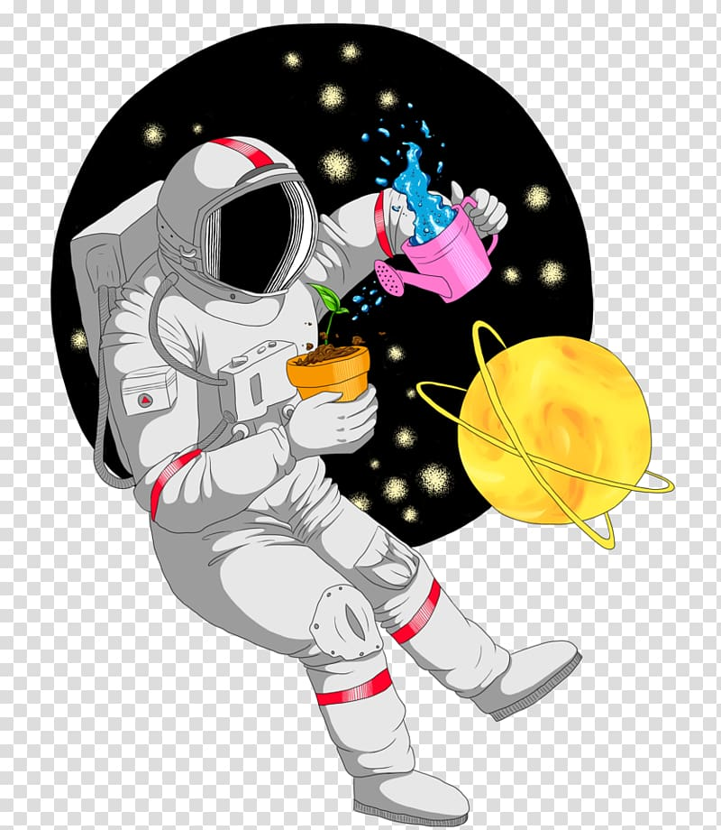 Astronaut Outer space Space art Drawing, astronaut.