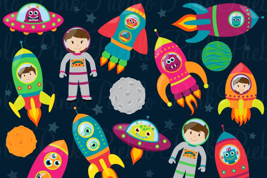 Space Astronaut Clipart and Vectors.