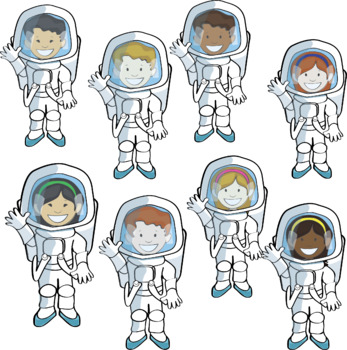 Space and Astronaut Clipart.