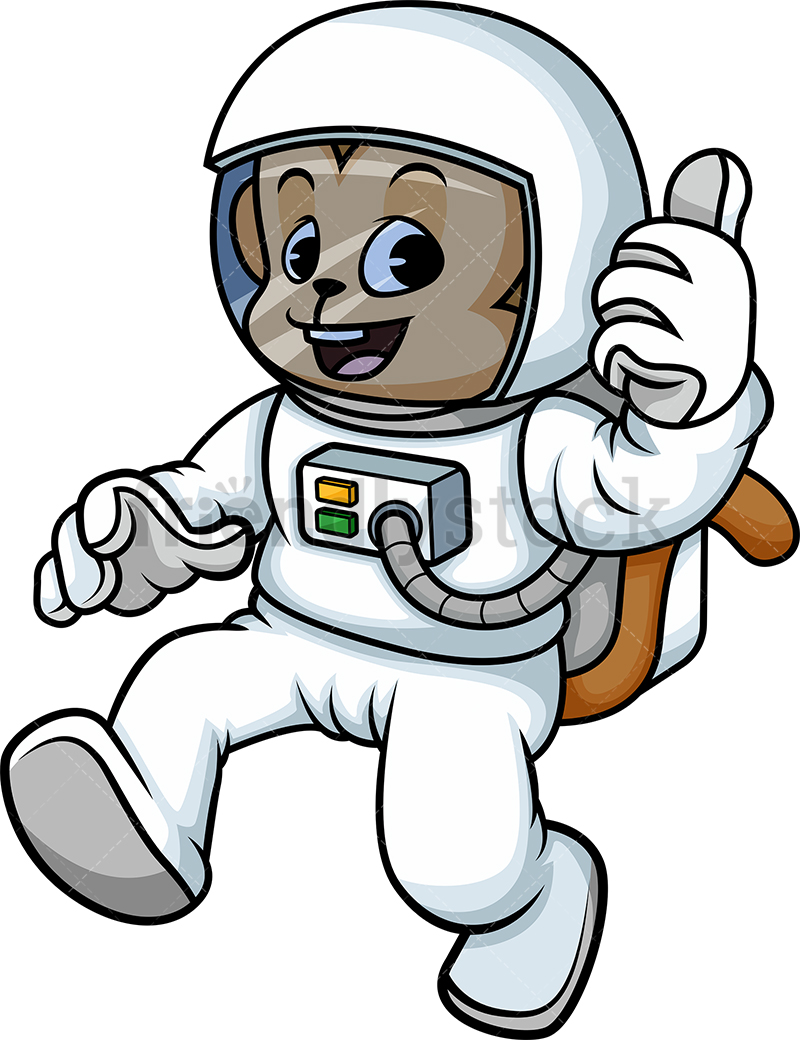Monkey In Astronaut Suit.