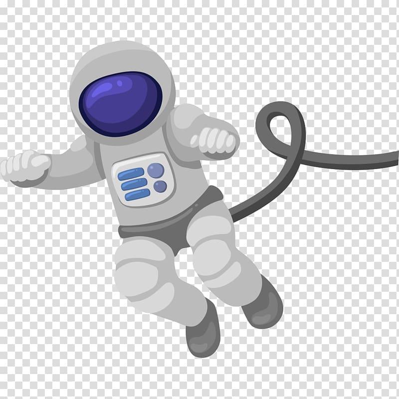 Gray astronaut illustration, Astronaut Cartoon Outer space.
