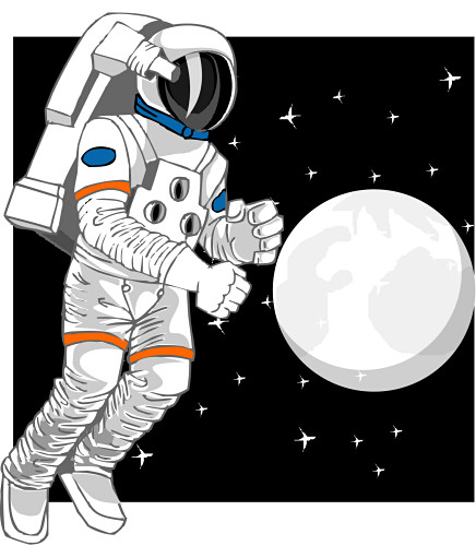 Astronaut In Space Clipart.